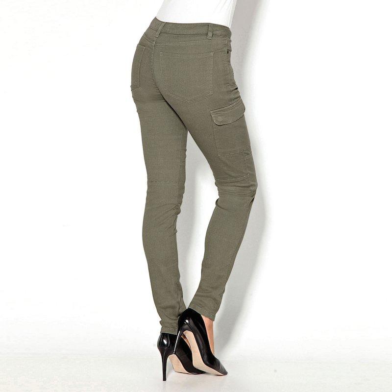 Pantalón largo cargo de mujer en algodón
