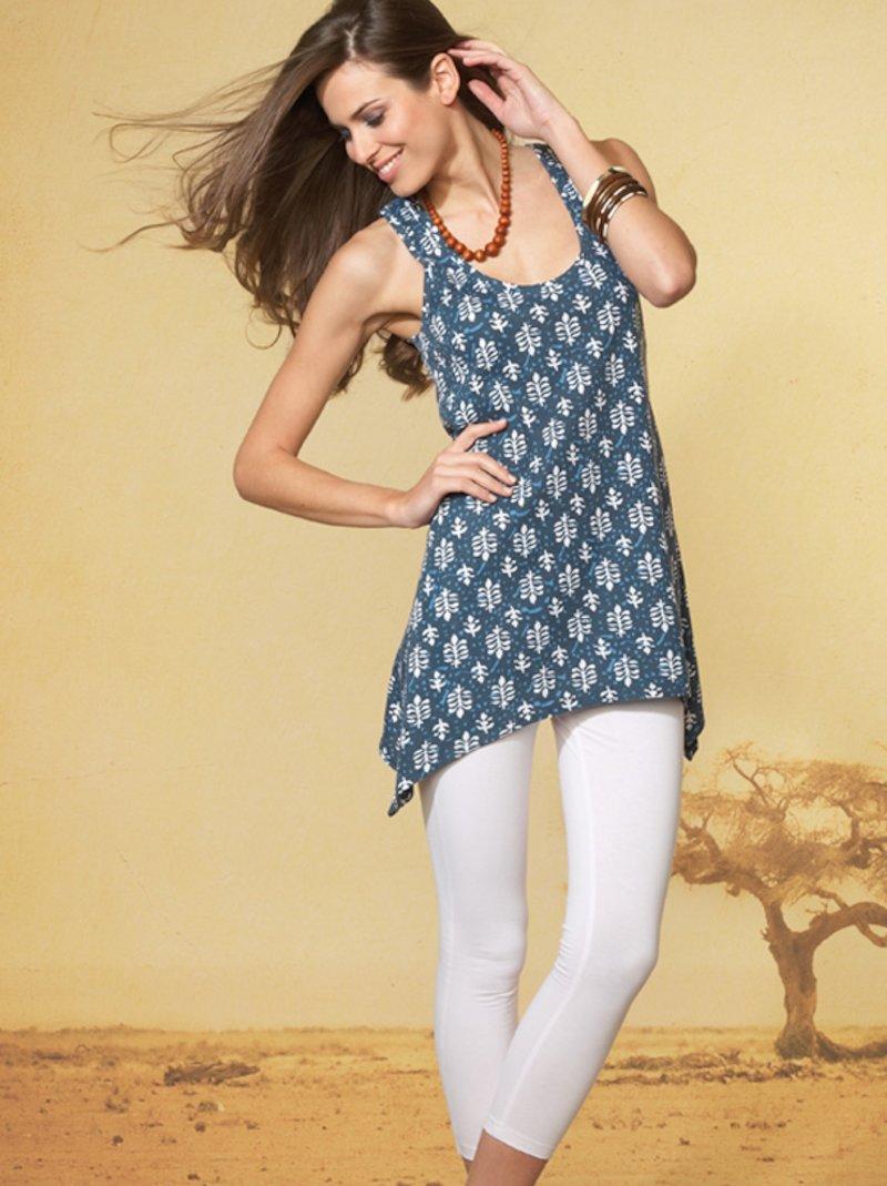 Conjunto para mujer camiseta y legging - Blanco