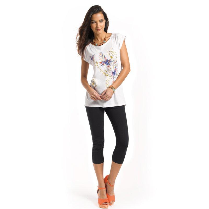 Conjunto camiseta estampada y legging corsario