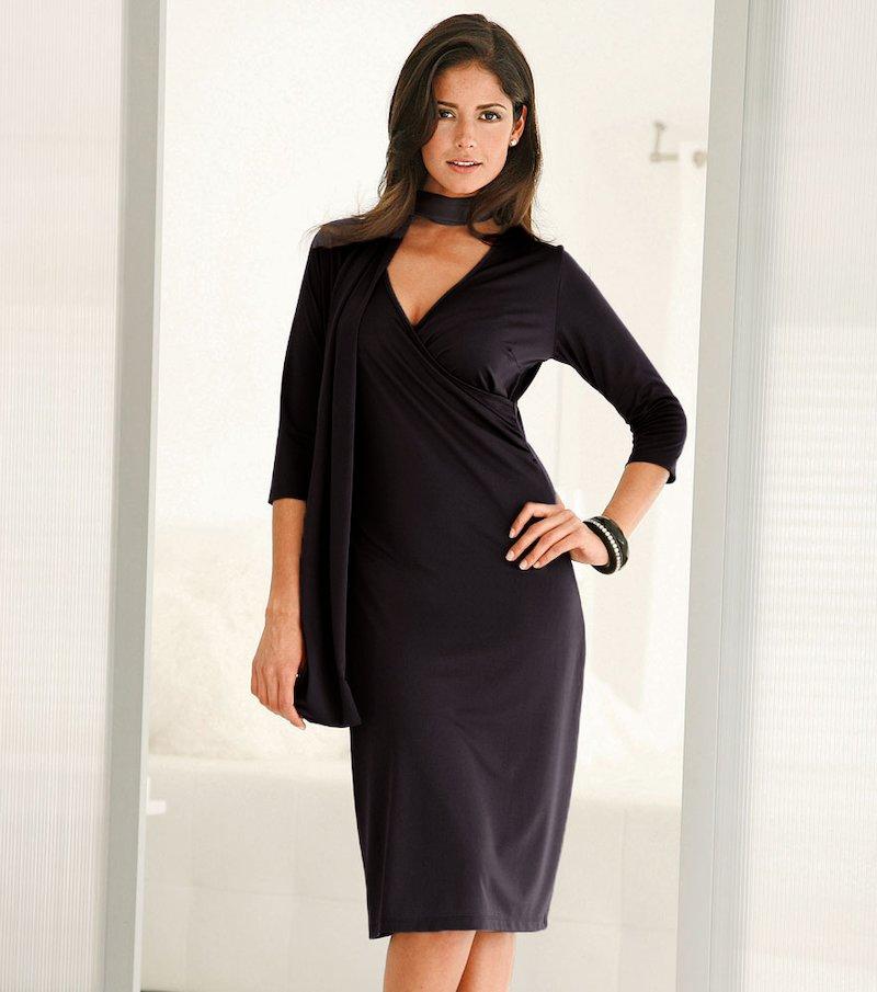 Vestido mujer de punto con foulard GRATIS
