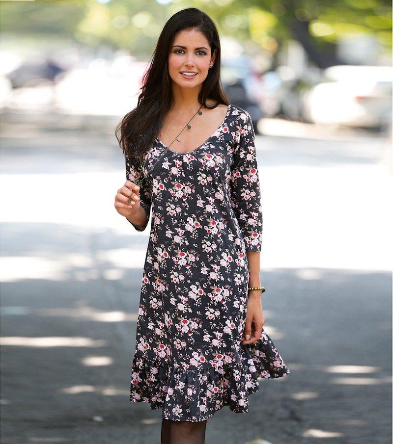 Vestido mujer punto 100% algodón