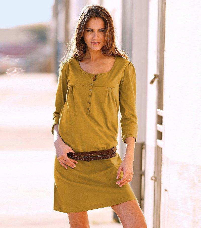 Vestido mujer manga 3/4 de algodón