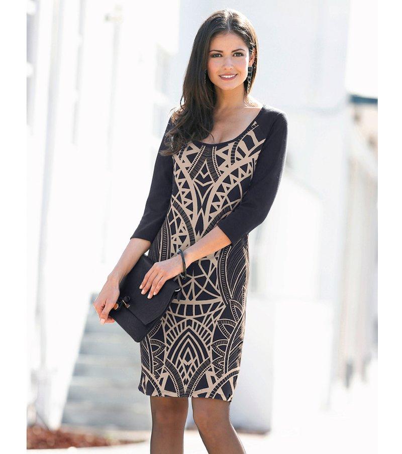 Vestido mujer manga 3/4 estampado