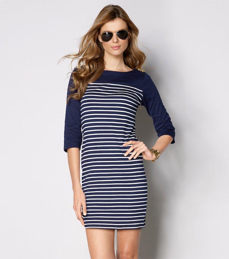 Vestido mujer manga 3/4 punto 100% algodón