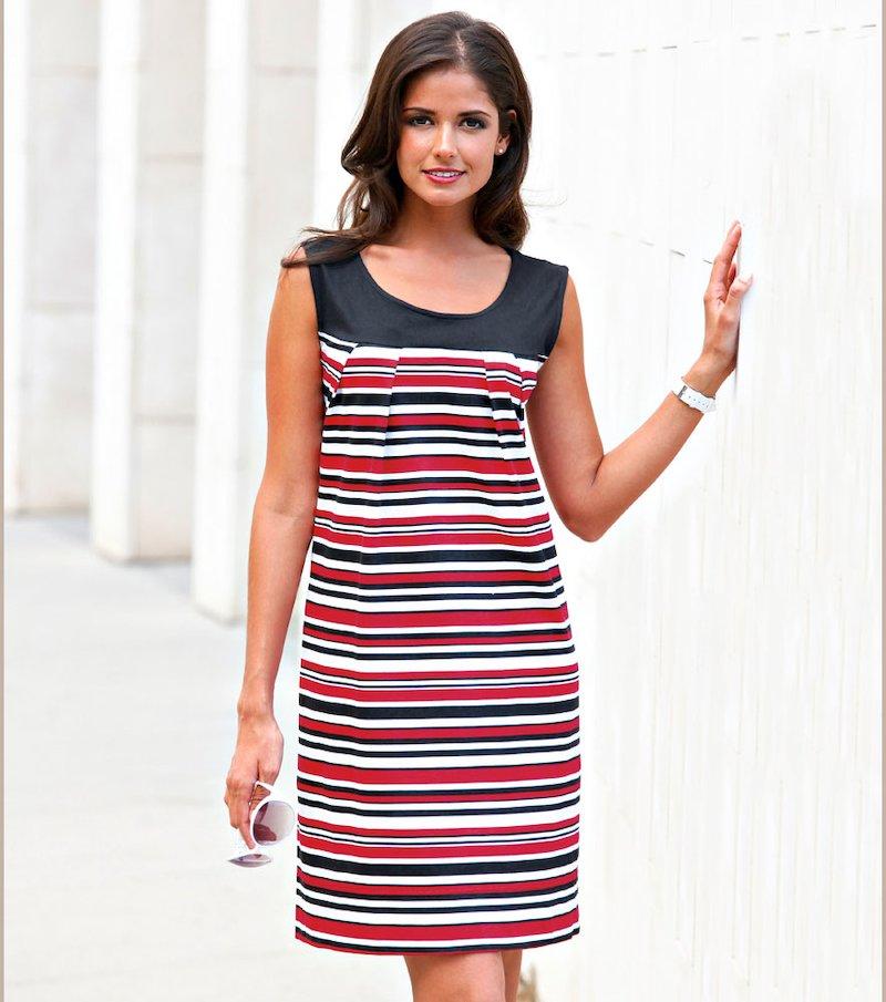 Vestido mujer sin mangas punto 100% algodón