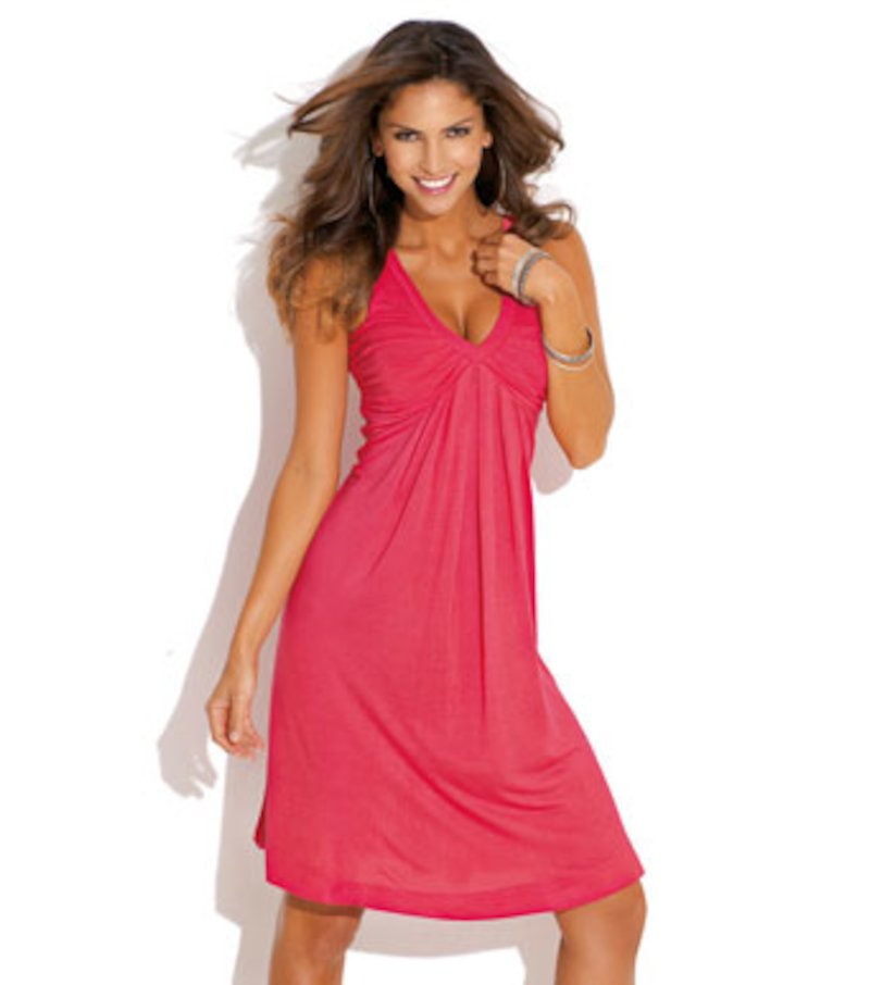 Vestido mujer sin mangas punto 100% viscosa