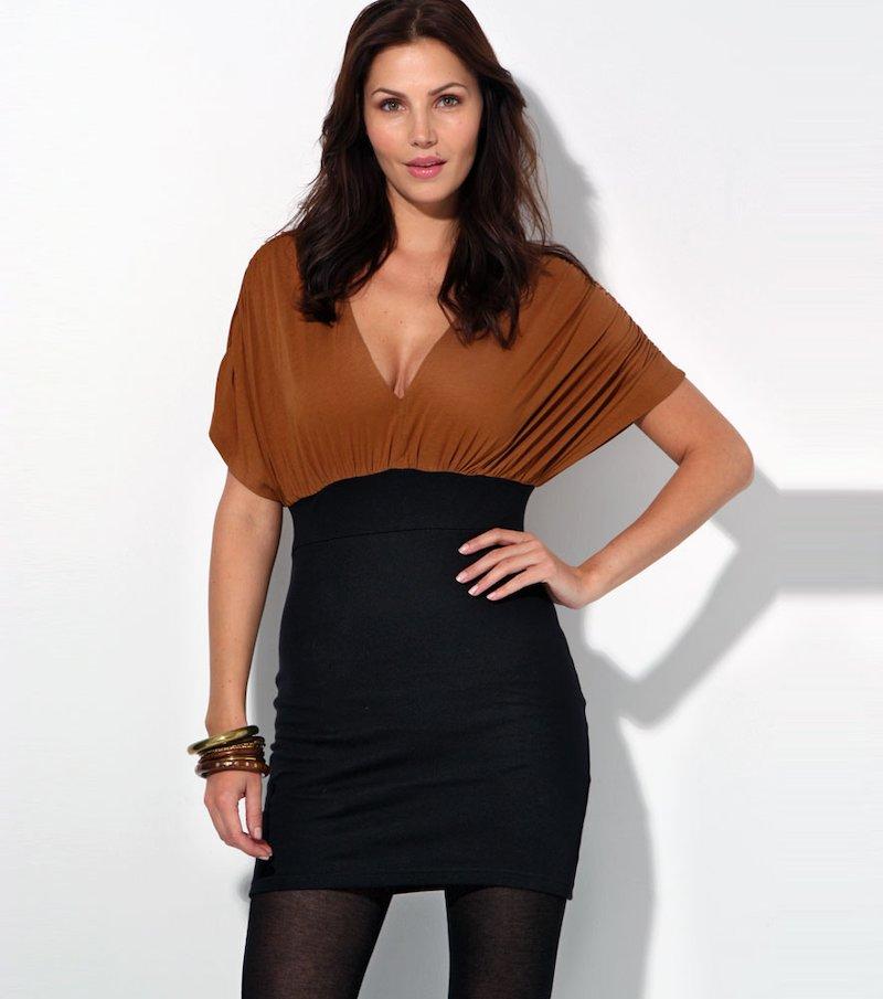 Vestido mujer manga corta punto 100% viscosa