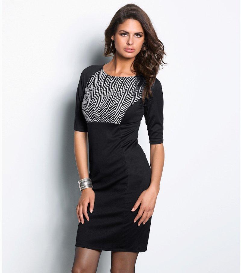 Vestido mujer manga corta punto roma