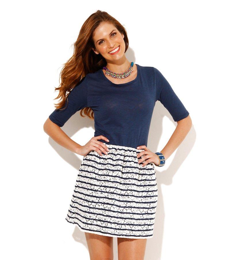 Vestido mujer manga corta efecto 2 piezas