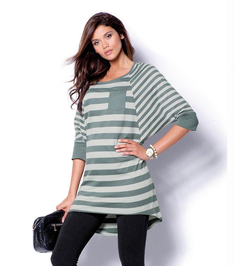 Vestido mujer manga larga punto 100% algodón