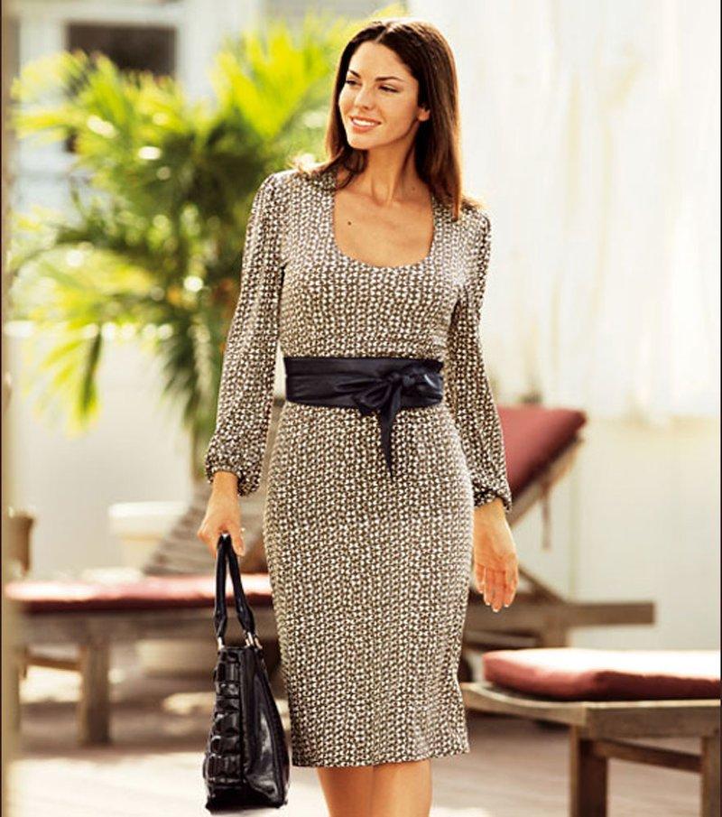 Vestido mujer manga larga punto elástico