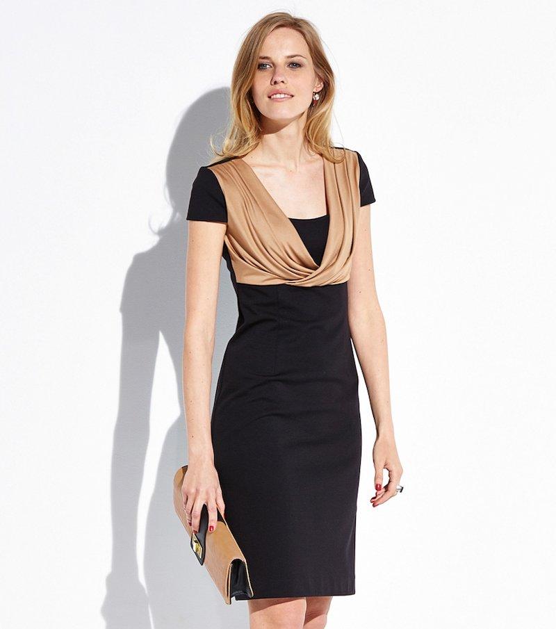 Vestido bicolor mujer