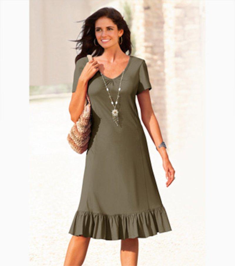 Vestido mujer manga corta punto 100% algodón