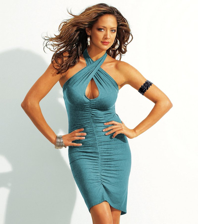 Vestido multiformas súper sexy en punto elástico