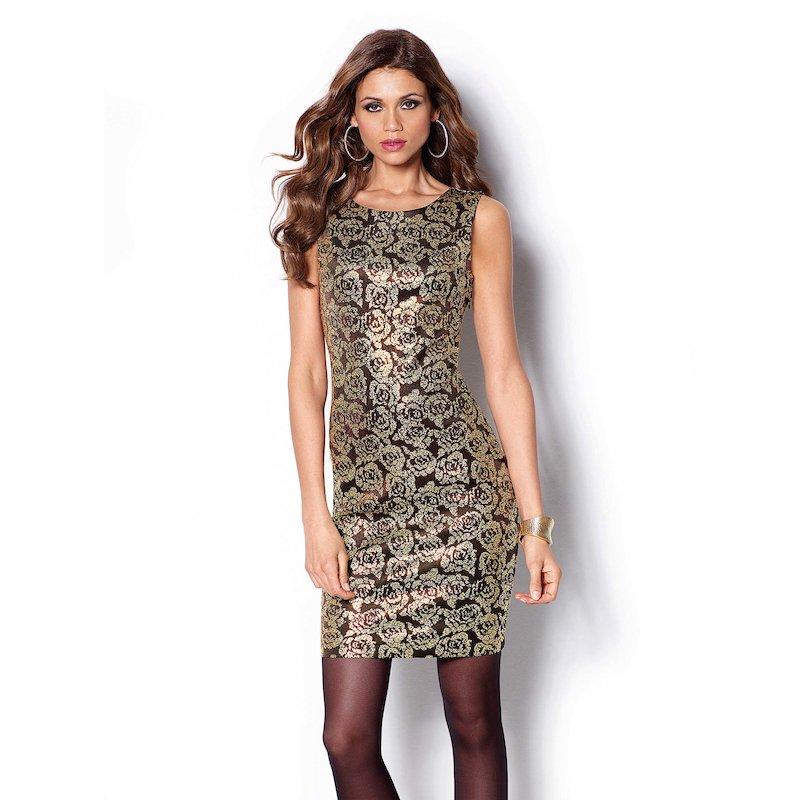 Vestido de fiesta mujer sin mangas reductor