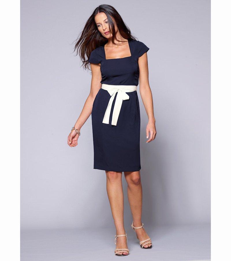 Vestido mujer manga corta con cinturón