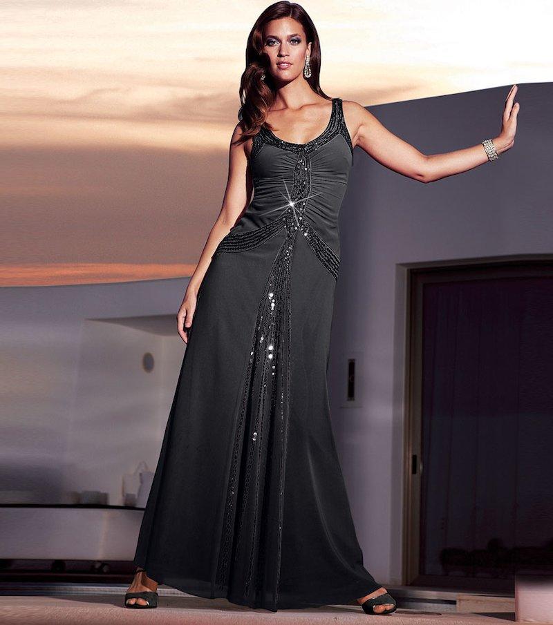 Vestido largo de fiesta mujer sin mangas