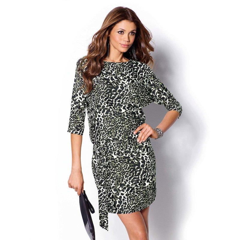 Vestido estampado animal print mujer