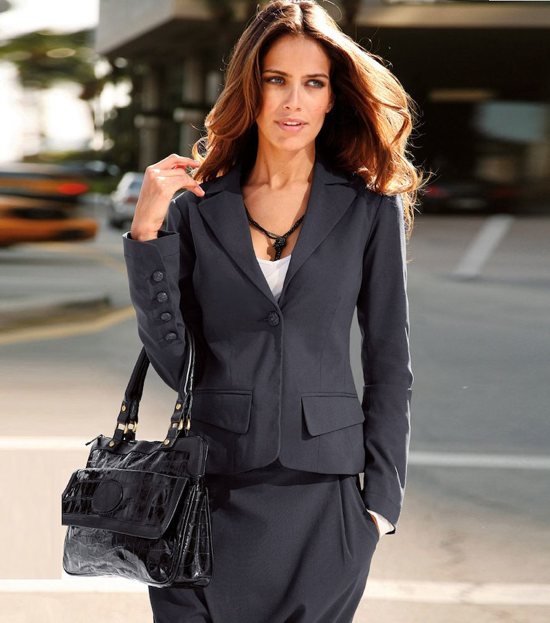 Chaqueta americana mujer con bolsillos