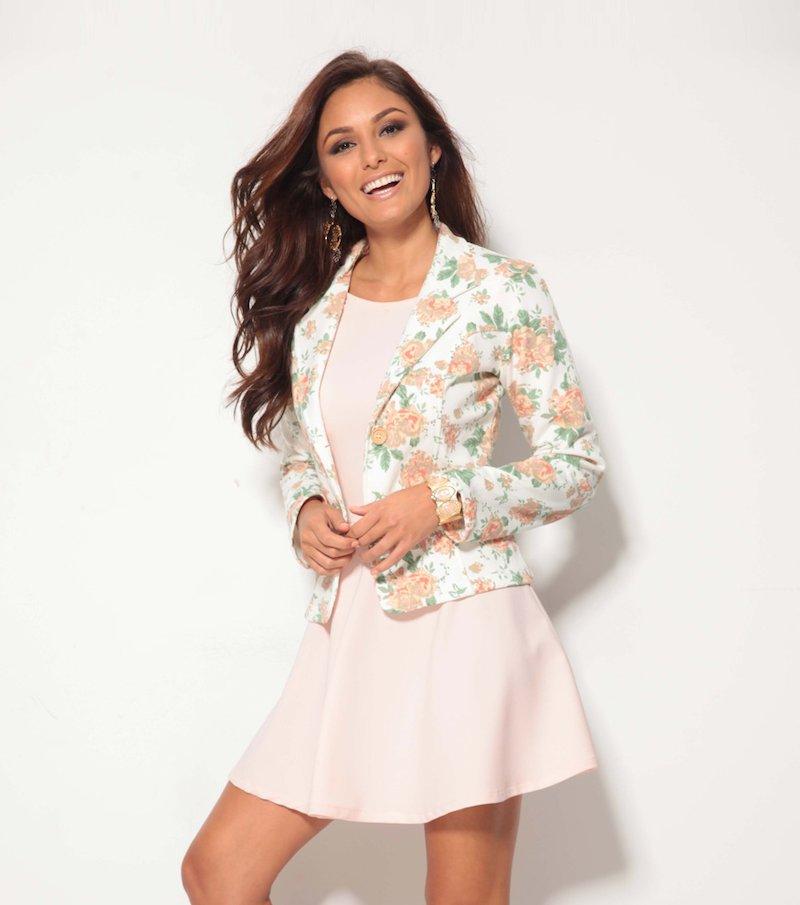 Americana mujer manga larga flores felpa de verano