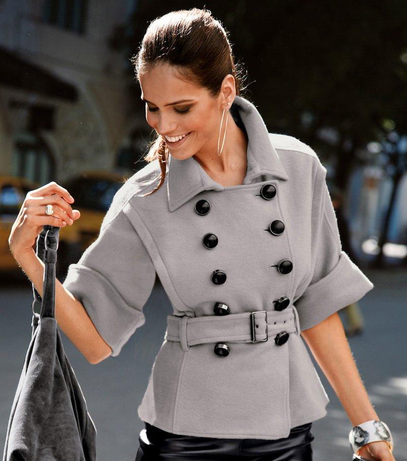 Chaqueta abrigo mujer con cinturón