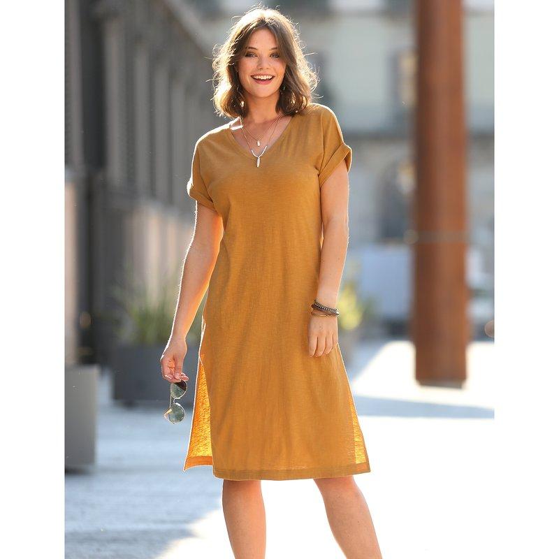 Vestido mujer de corte túnica punto slub