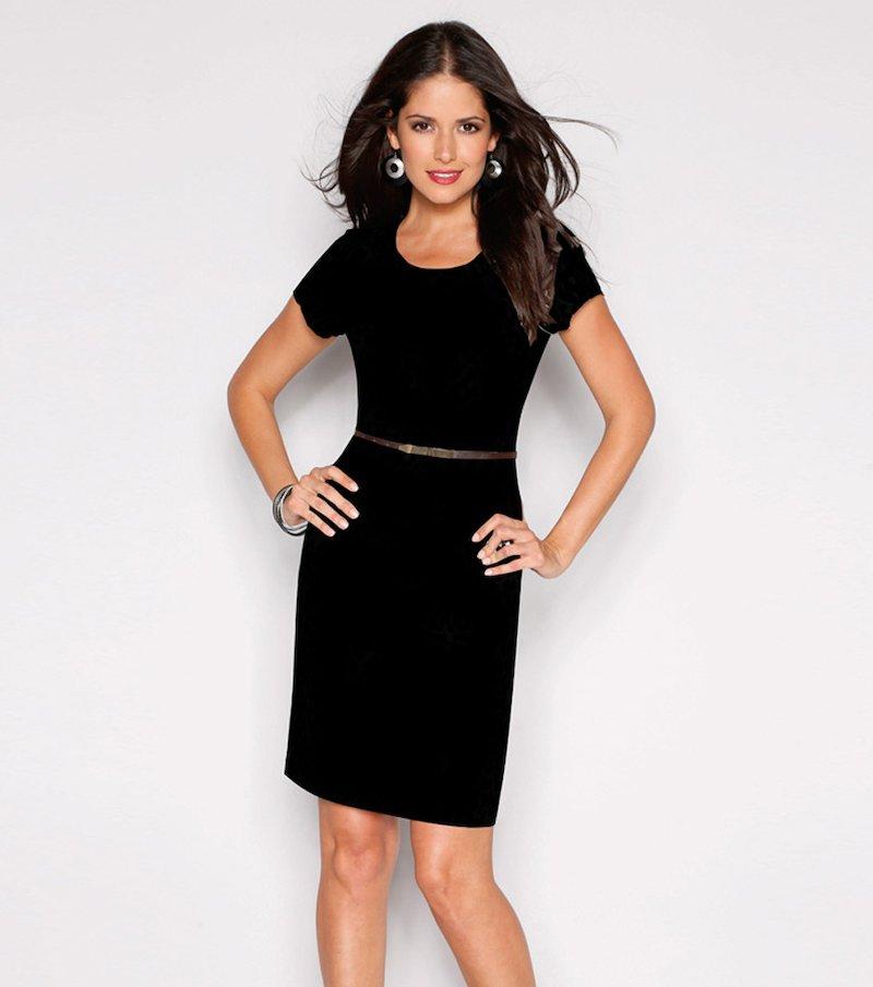Vestido mujer manga corta biextensible