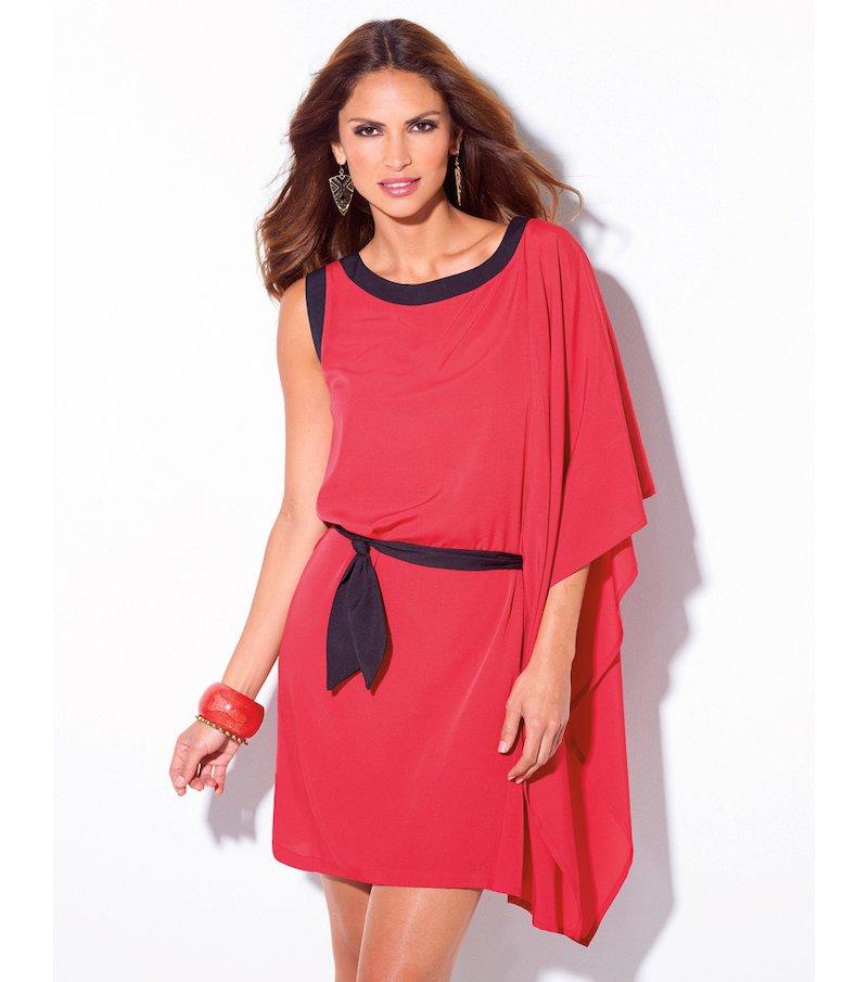 Vestido túnica mujer corte asimétrico
