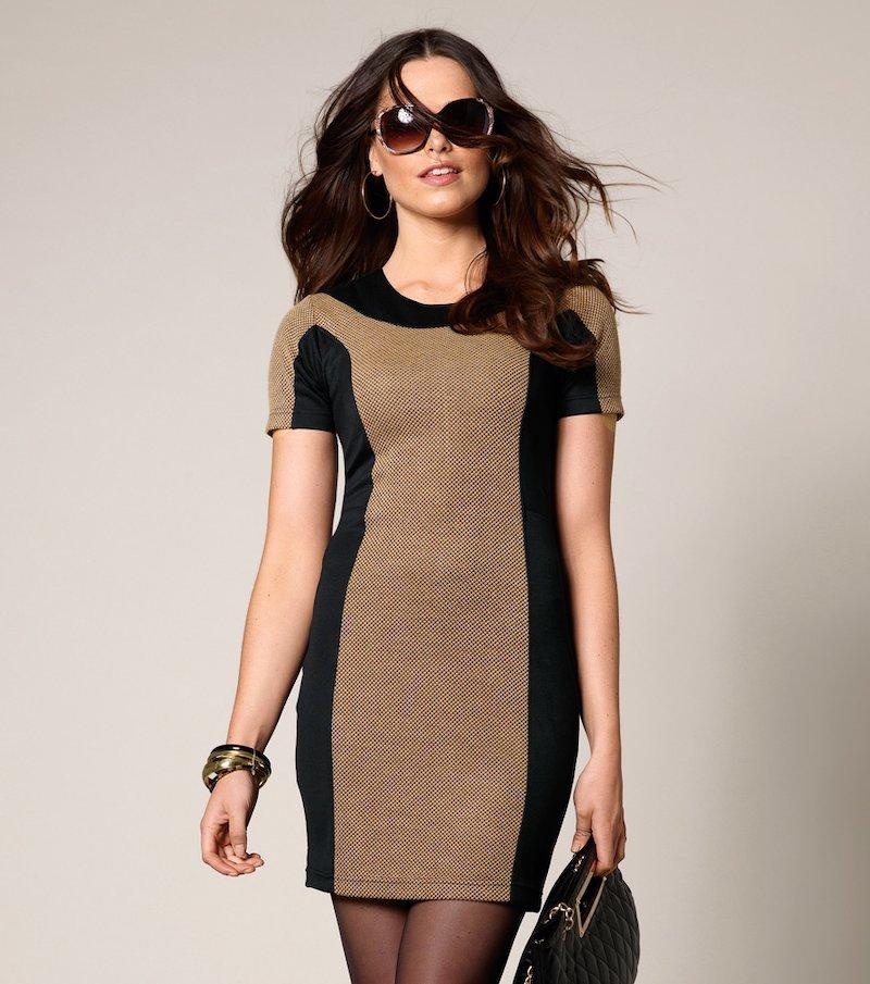 Vestido mujer manga corta elástico