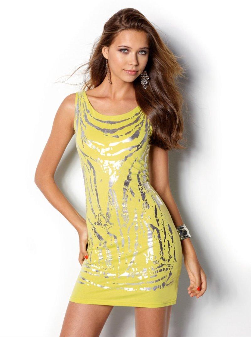 Vestido de fiesta mujer sin mangas punto
