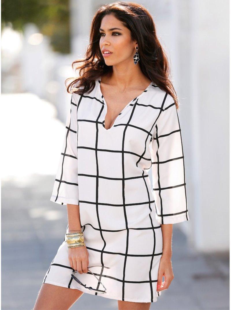 Vestido túnica mujer estampado