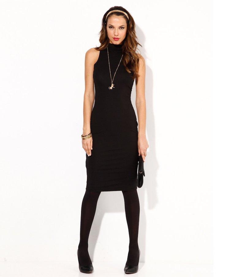Vestido mujer sin mangas punto elástico