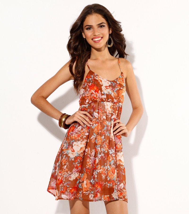Vestido mujer tirantes estampado flores