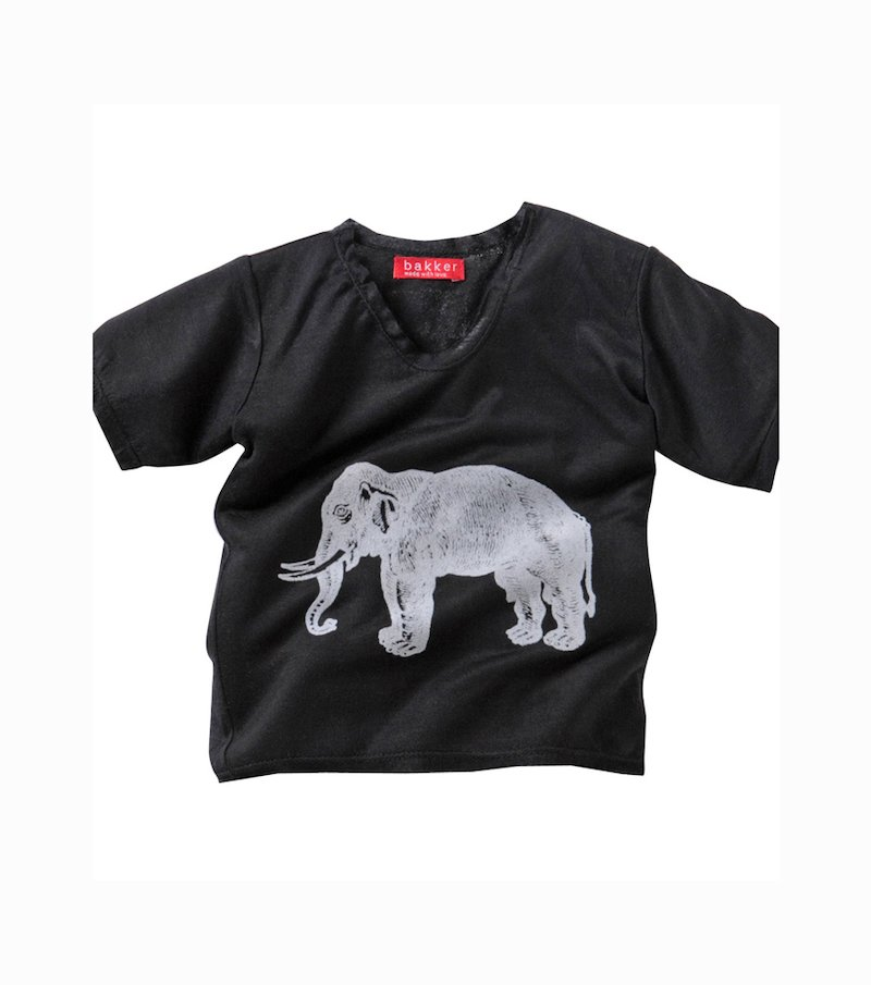 Camiseta niño BAKKER manga corta - Negro