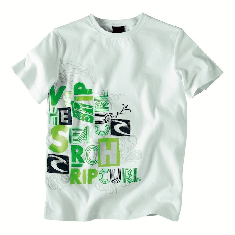 Camiseta infantil de manga corta estampado frontal RIPCURL