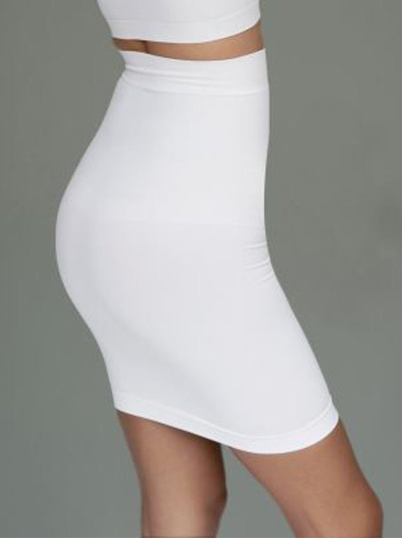 Falda ultra elástica tipo paja sin costuras efecto reductor
