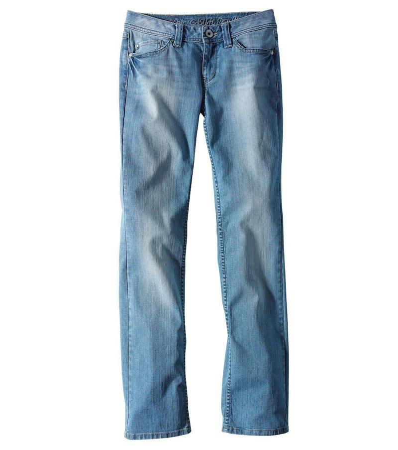 Pantalón largo jeans vaquero acabado lavado para mujer