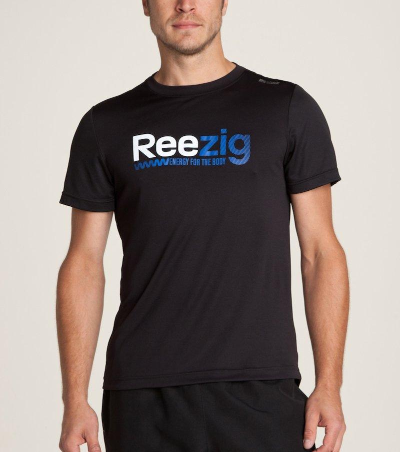 REEBOK - Camiseta deportiva de hombre ZigTech con estampado frontal R