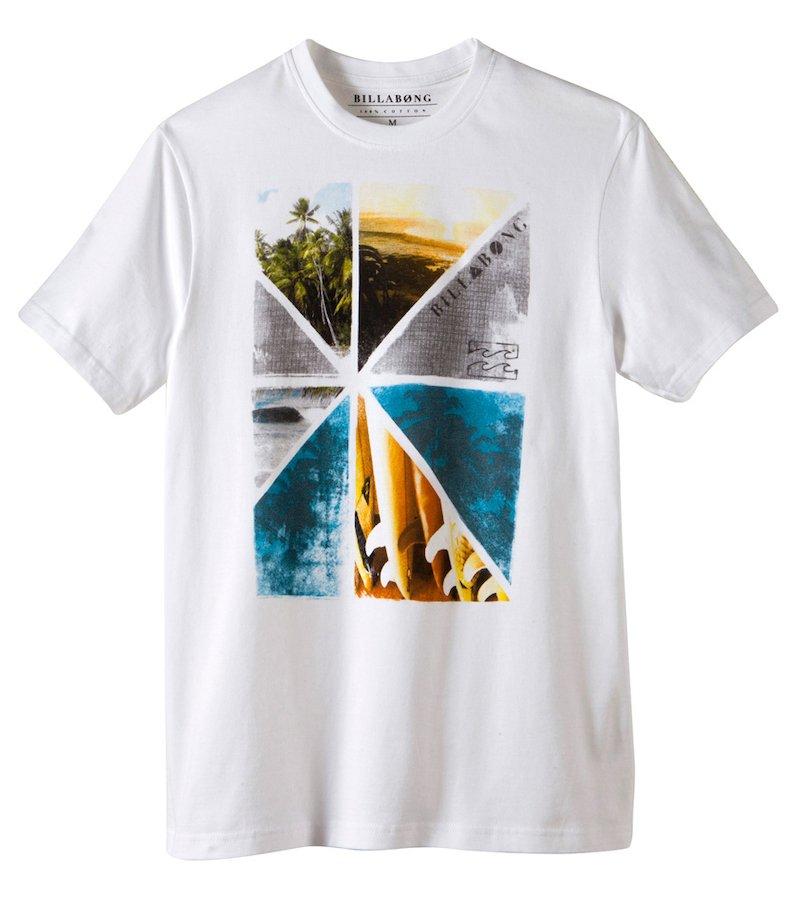 Camiseta manga corta con estampación frontal fotográfica sur