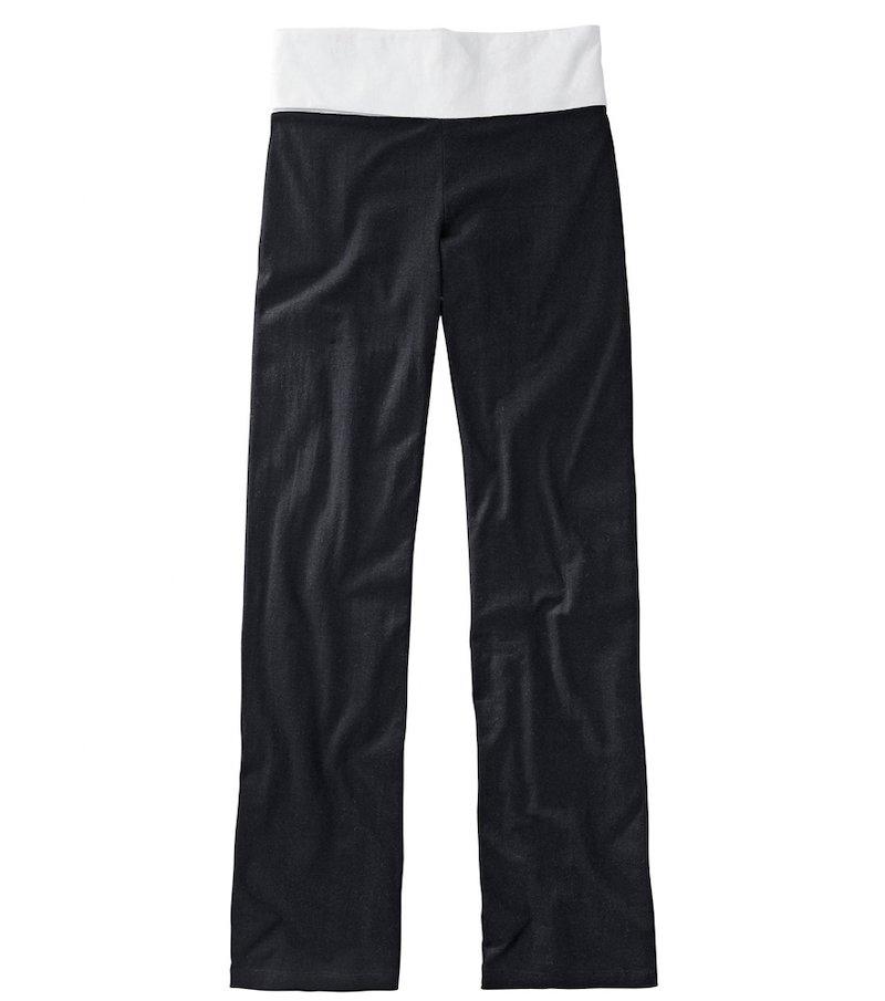 Pantalón de punto elástico amplia cinturilla