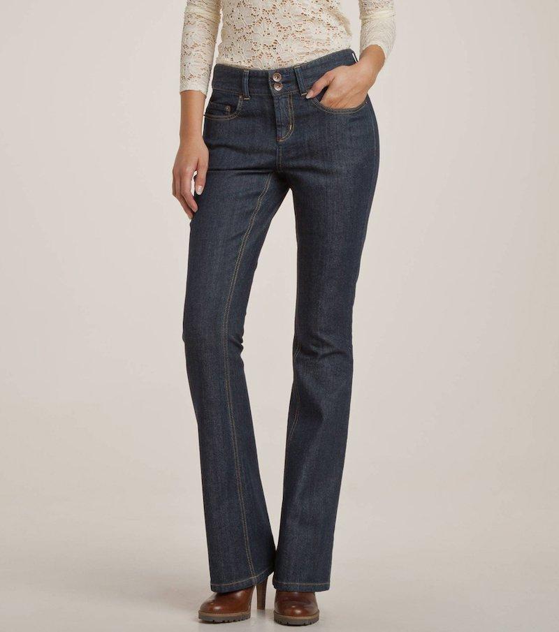 Pantalón vaquero bootcut  mujer 80 cm