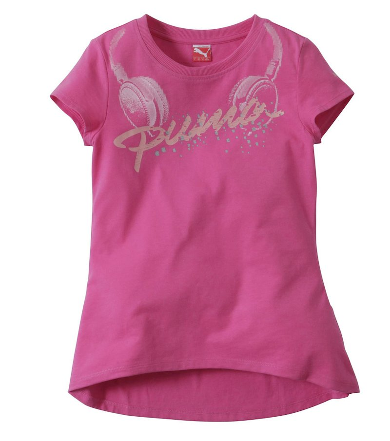 Camiseta sport mujer PUMA logo fantasía