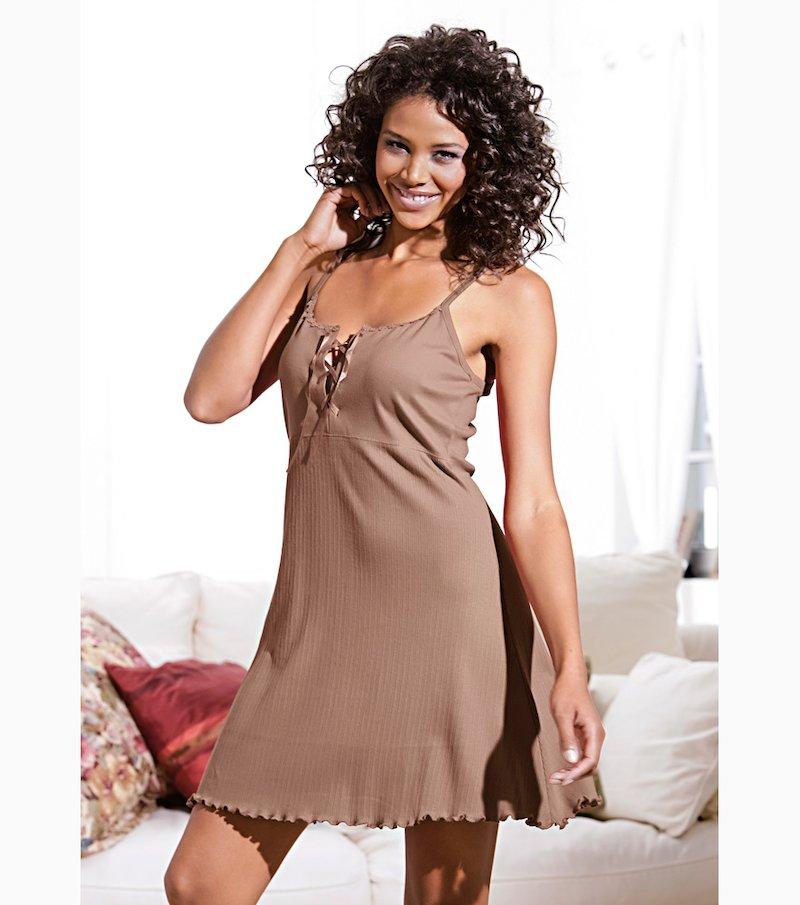 Camisón mujer de tirantes 100% algodón