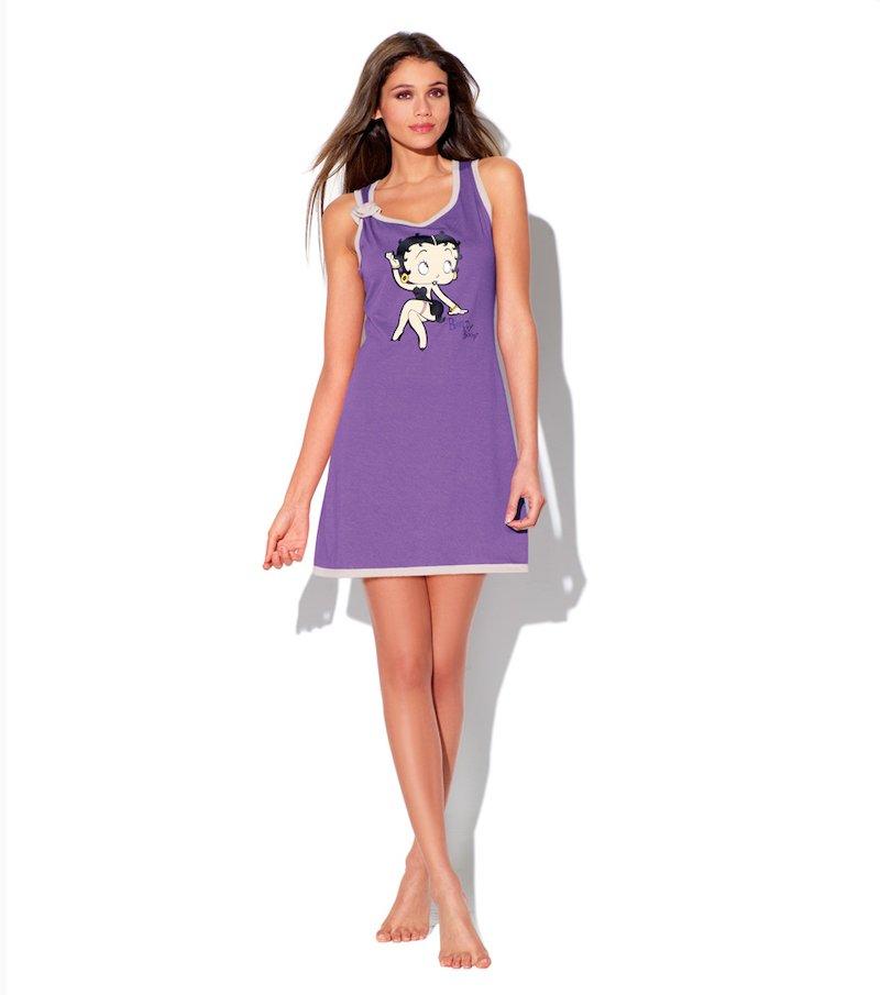 Camisón corto mujer sin mangas Betty Boop