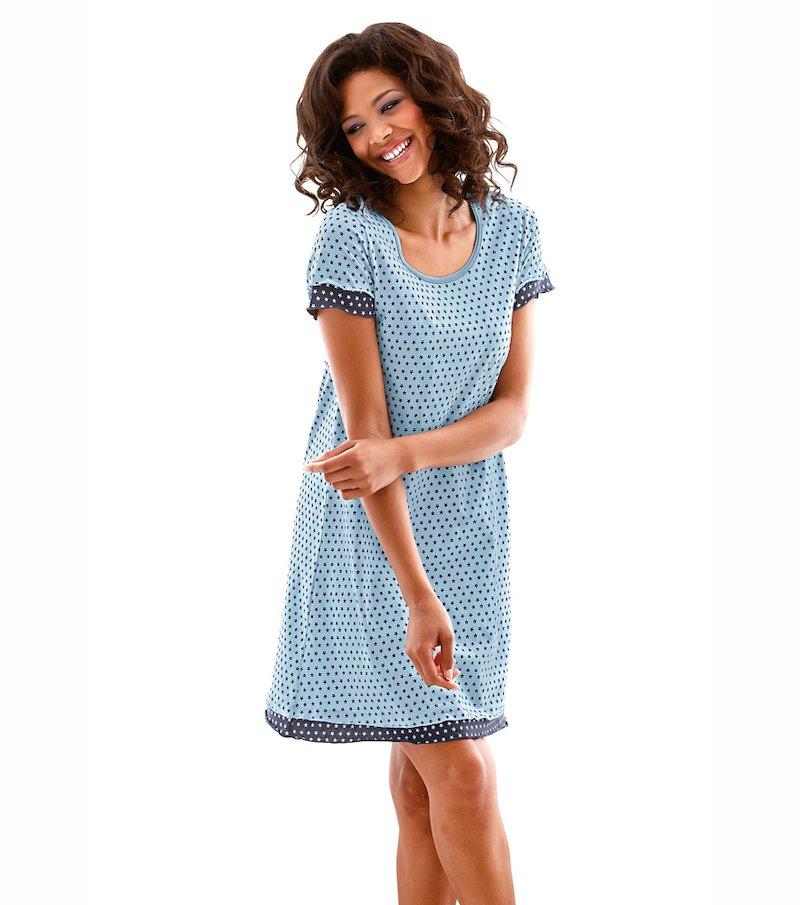 Camisón mujer manga corta 100% algodón