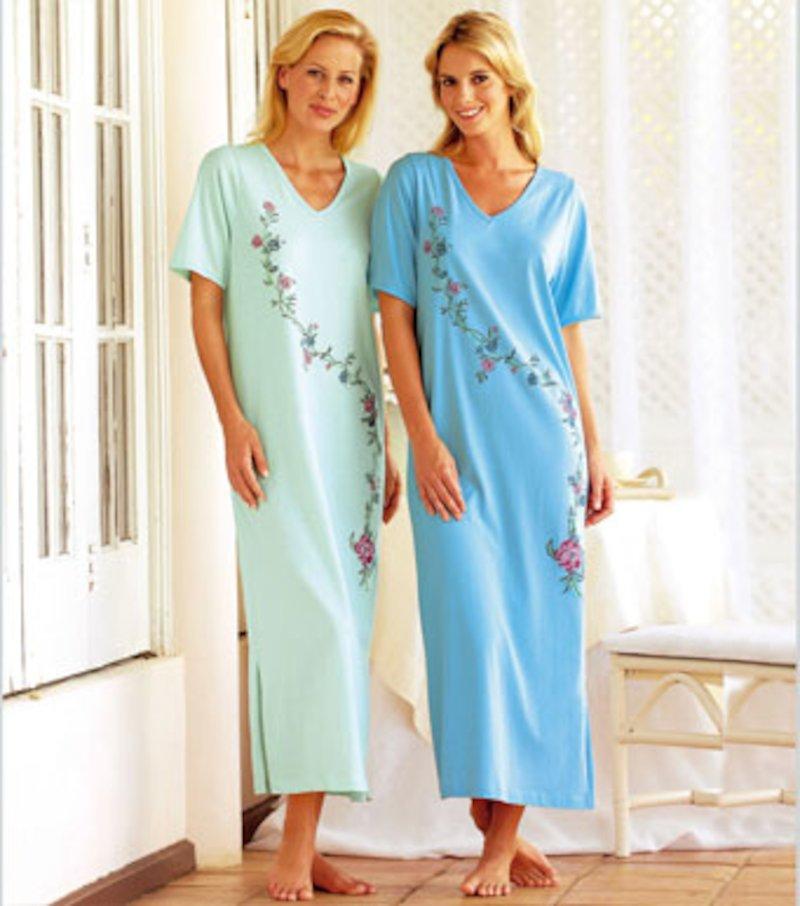 Lote 2 camisolas largas de manga corta de algodón estampadas
