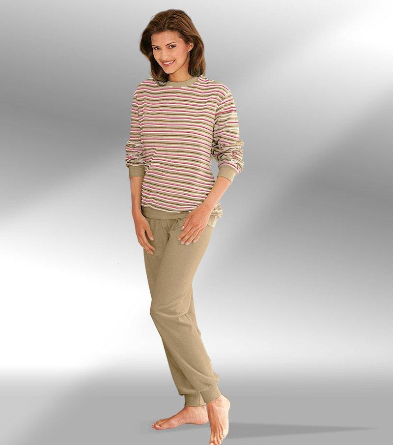 Pijama largo 2 piezas mujer rayas
