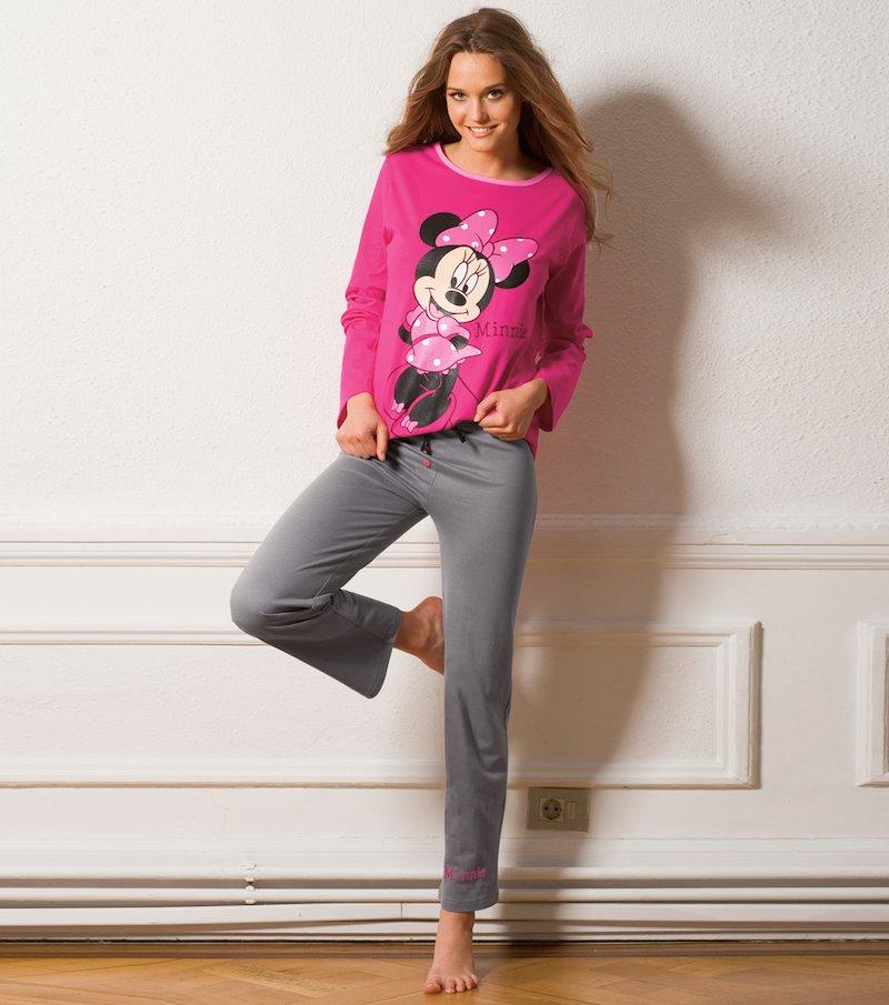 Pijama largo 2 piezas mujer Minnie Mouse