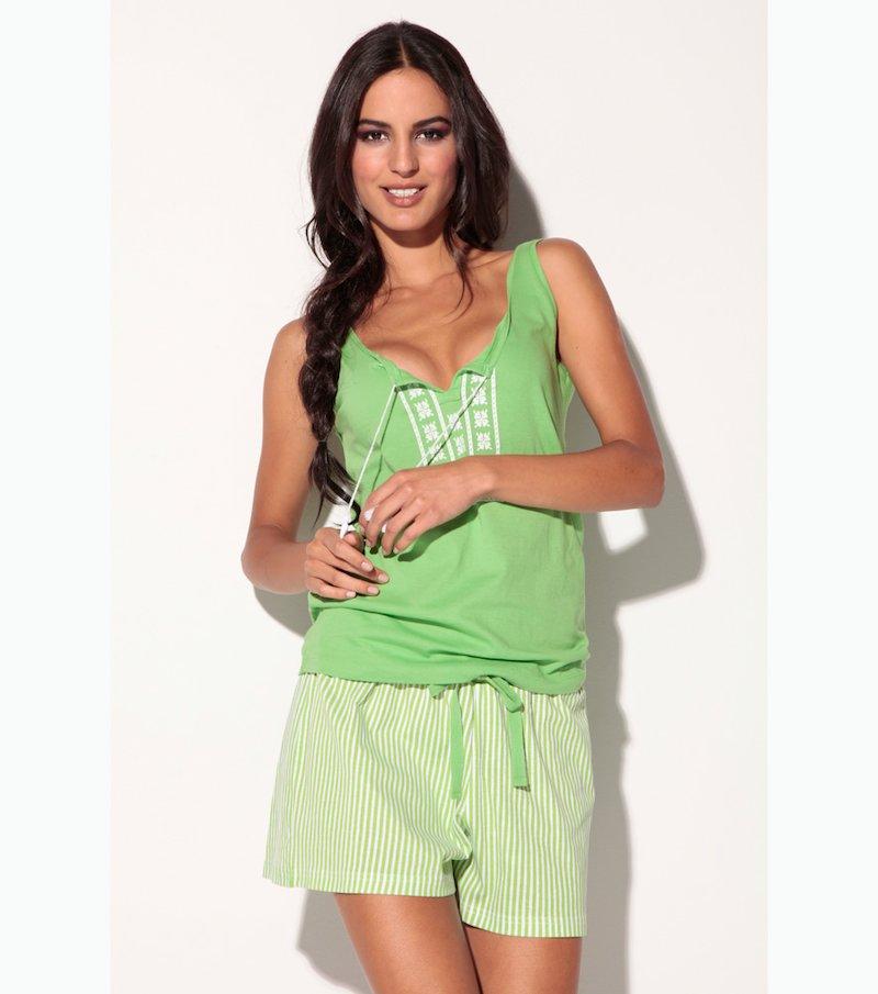 Pijama corto 2 piezas mujer estampado 100% algodón