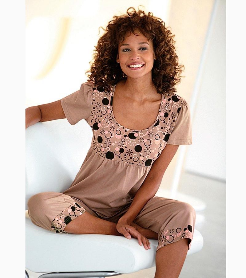 Pijama 2 piezas mujer manga corta 100% algodón